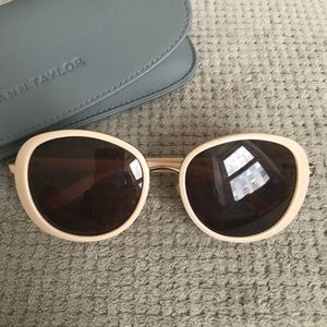 Ann Taylor Bungalow Sunglasses in Natural